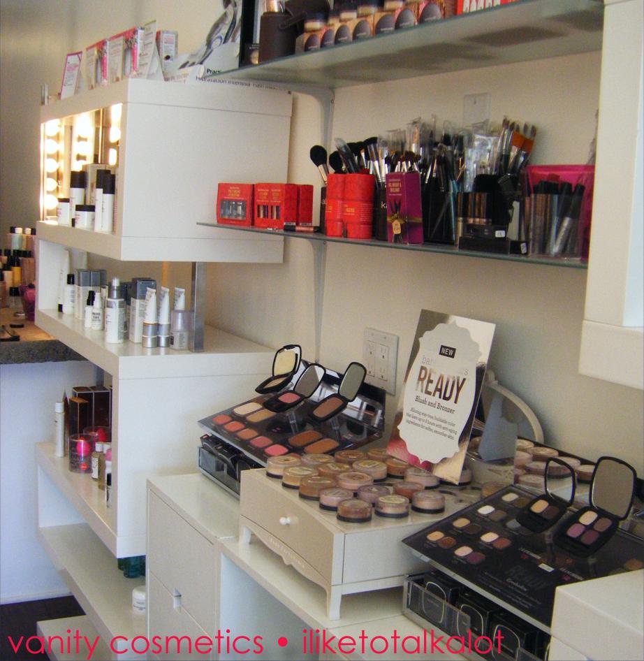 Vanity Cosmetics Display Of Products Iliketotalkalot