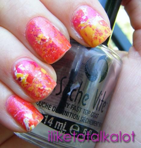 Endless Summer Splatter Manicure 3 iliketotalkalot