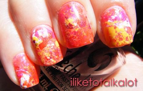 Endless Summer Splatter Manicure 7 iliketotalkalot