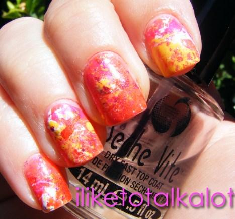 Endless Summer Splatter Manicure 8 iliketotalkalot