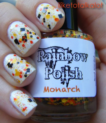iliketotalkalot rainbow polish monarch 5