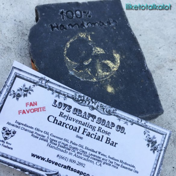 love craft soap co rejuvenating rose charcoal facial bar review iliketotalkblog