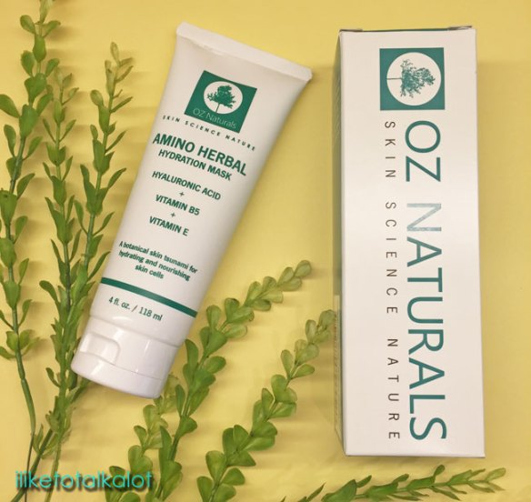 oz naturals Amino Herbal Hydration mask Review by Iliketotalkblog