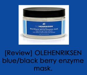 ole blue black berry mask review, product review