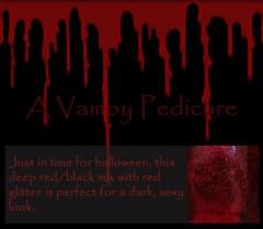 vamp nail polish, vampy maicure, vampire nailpolish