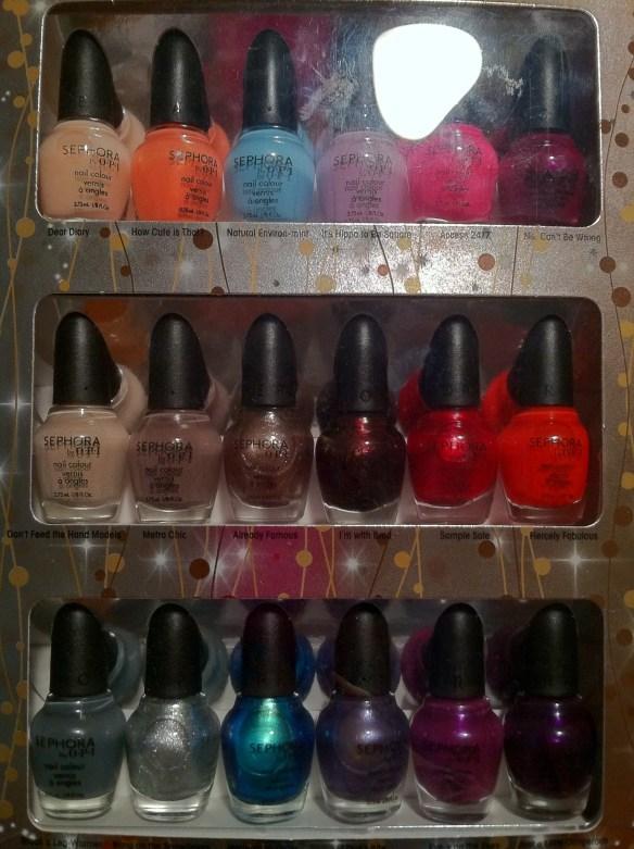 Glimmer Wonderland Eighteen Piece Mini Nail Colour Set