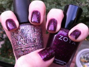 opi teenage dream and zoya roxy