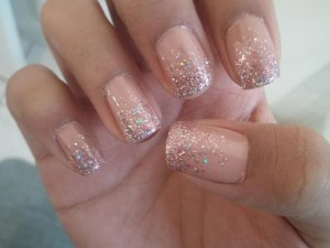 holiday glitter nails