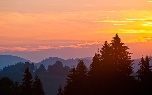 Carpathian Mountains sunrise