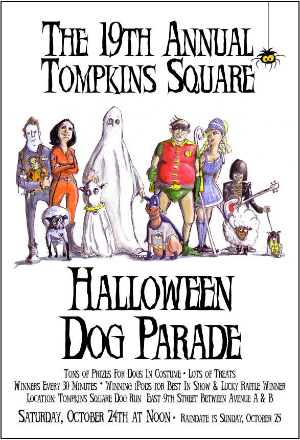 The 19th Annual Tomkins Square Halloween Dog Parade.  East Village, NYC