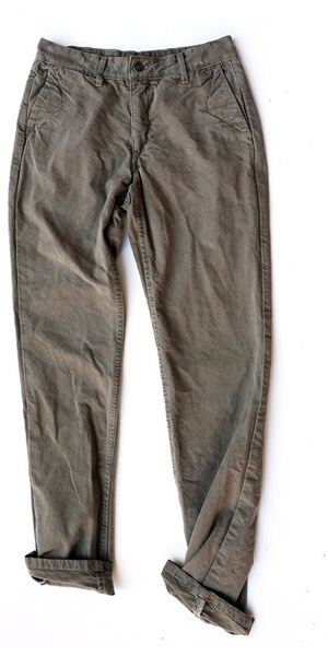 full shiitake natural dyed chino