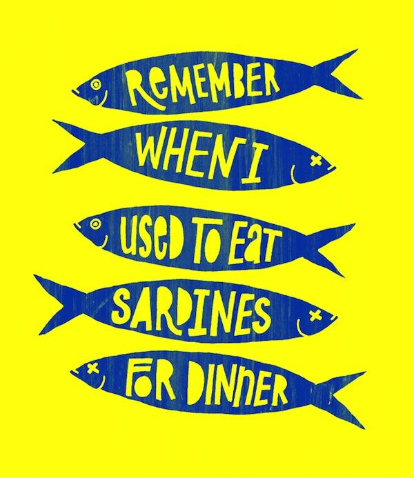 sardines for dinner