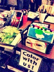 14. a glimpse at the fun lorna alkana art table