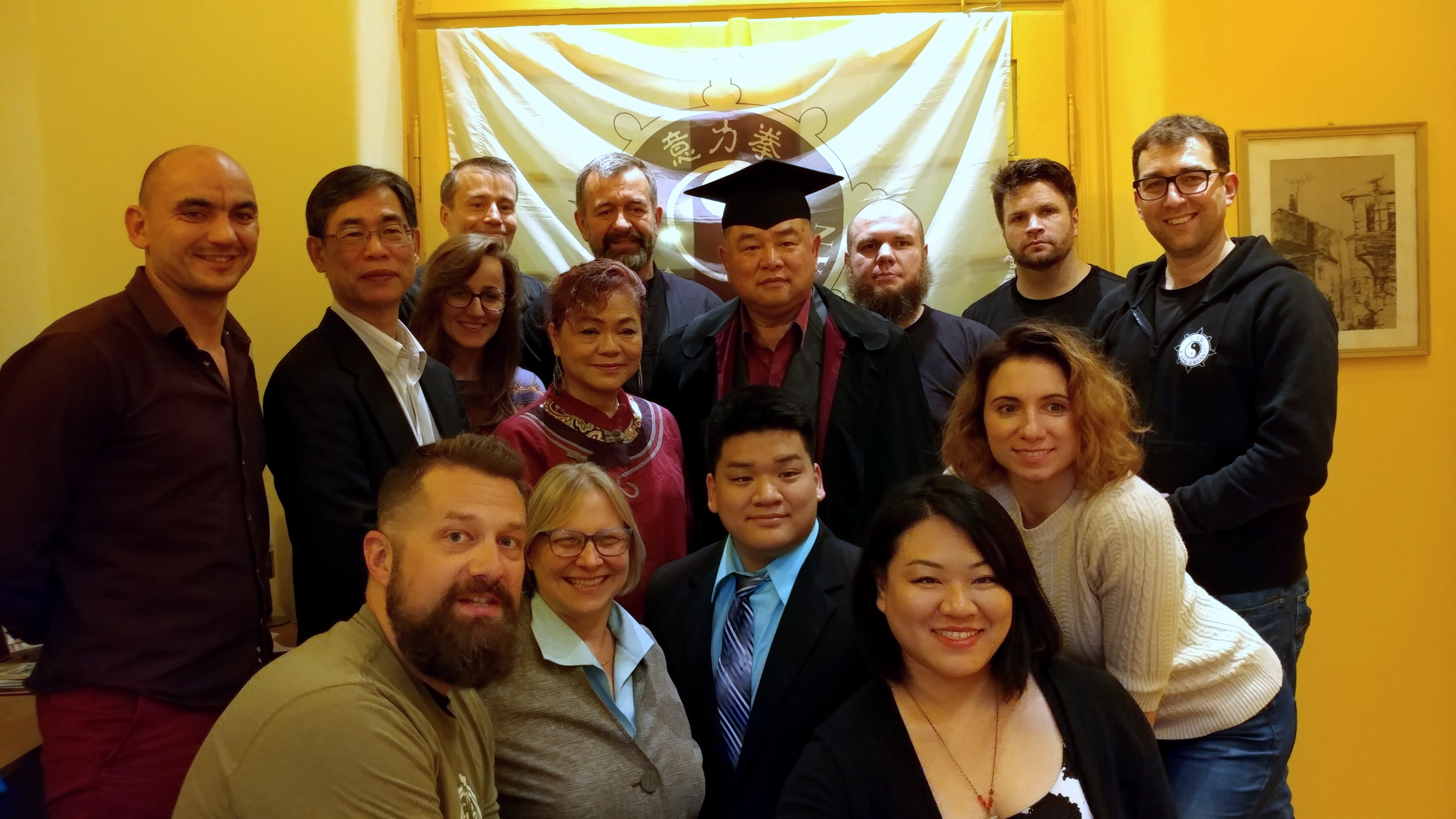 GM Sam Chin with students and family in Plovdiv