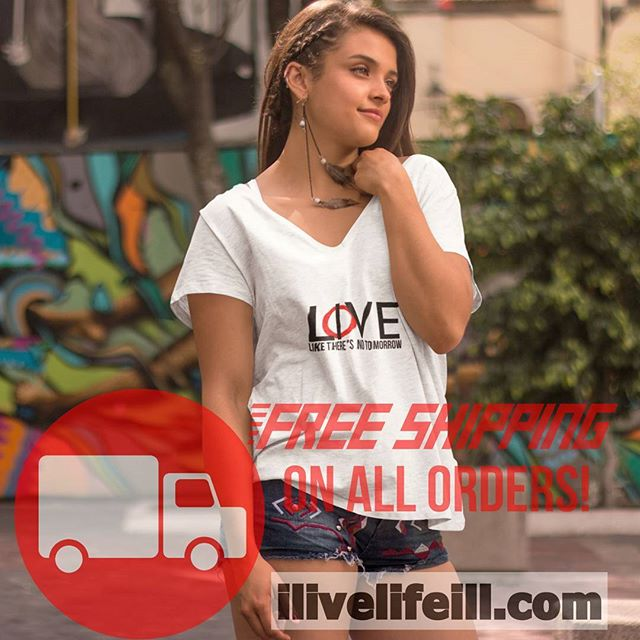 LOVE and LIVE like there's no tomorrow. #onlineshopping Free Shipping on ilivelifeill.com#shop #free #world #love  #live #life #vneck #model #typography #art #beautiful #nyc #Washington #state #college #cute #hot #warm #women #men #fashion #apparel #fall #business #clothingline #fun #swag #yolo #ILL