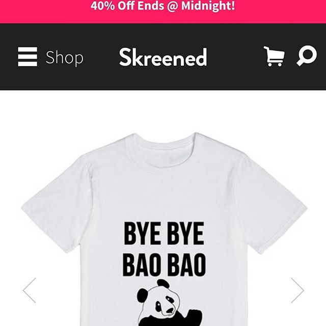 40% off sale ends in an hour and a half!http://skreened.com/trendingdesigns/bye-bye-bao-bao-the-cute-panda-is-leaving-usa-graphic-tee#byebyebaobao #trending #panda #animal #cute #fashion #sale #limited #style #chic #novelty #instagood