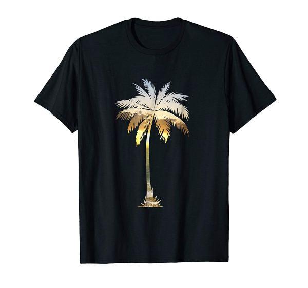 Palm Tree Shirt | Cool Graphic Tees Palm Tree Beach T-shirt