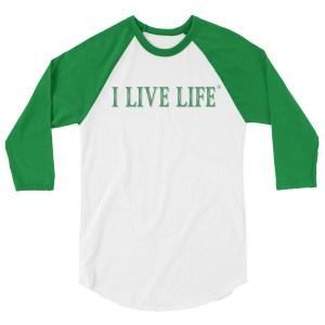 Christmas Green I Live Life Shirt