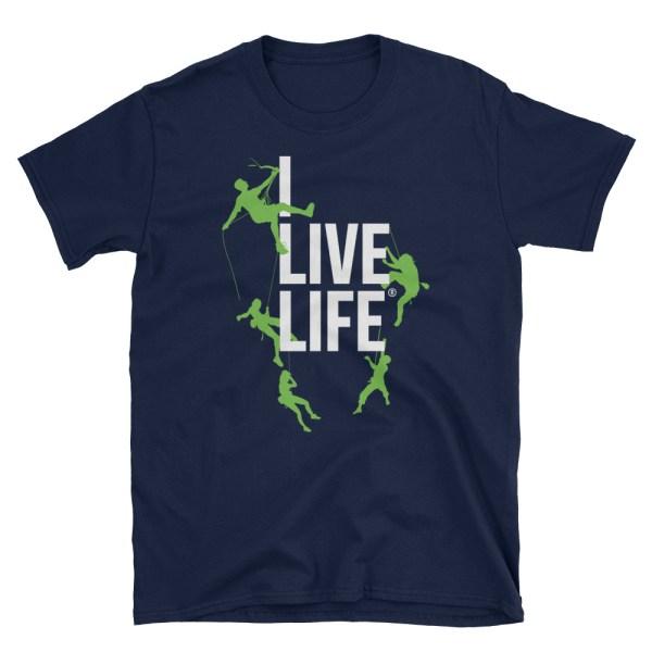 Rock Climbing T shirt | I Live Life Mountain