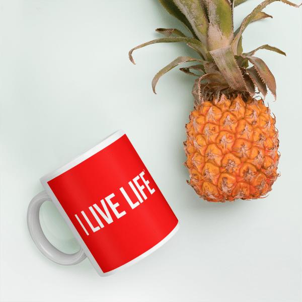 The I Live Life Red Mug on ilivelifeill.com
