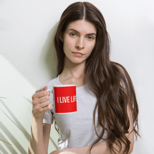 The I Live Life Red Mug on ilivelifeill.com