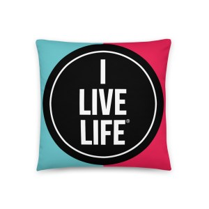 I Live Life TikTok Pillow on ilivelife.net