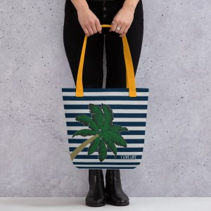 I Live Life Palm Tree Nautical Tote Bag