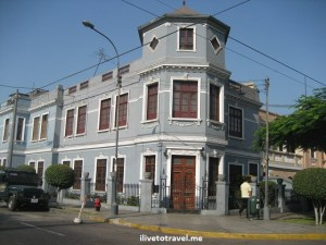 Building in Lima, Peru near the Jesus Maria area