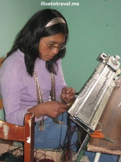 Textile worker in Cusco (Cuzco), Peru