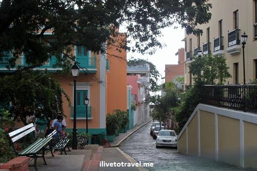 Old San Juan street in Puerto Rico