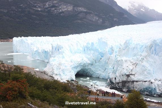 The kiss of Perito Moreno Glacier in Argentina's Patagonia near El Calafate