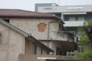 Bosnia, Mostar, Balkan War, war-damaged building, explore, travel