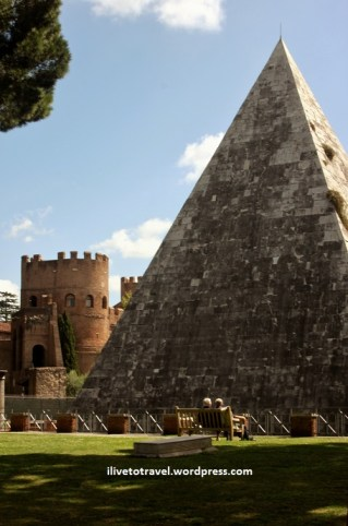 A pyramid in Rome, Italy
