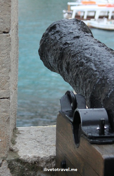 Cannon along the city walls of Dubrovnik, Croatia