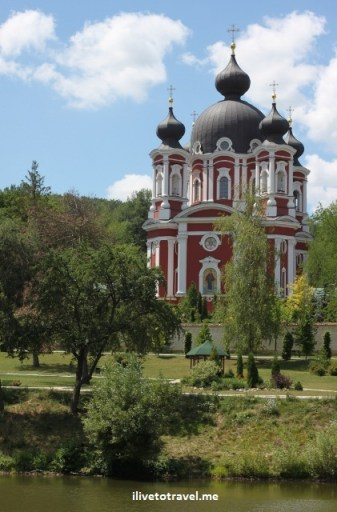 Church of the Mother of God in the Curchi Monastery in Moldova