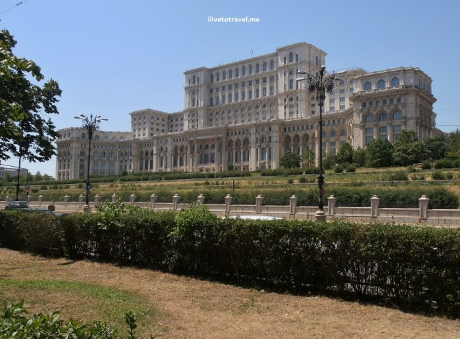 Palace of Parliament in Bucharest, Romania. Ceausescu's legacy.