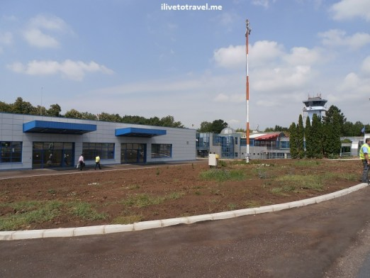 The airport in Iaşi, Romania