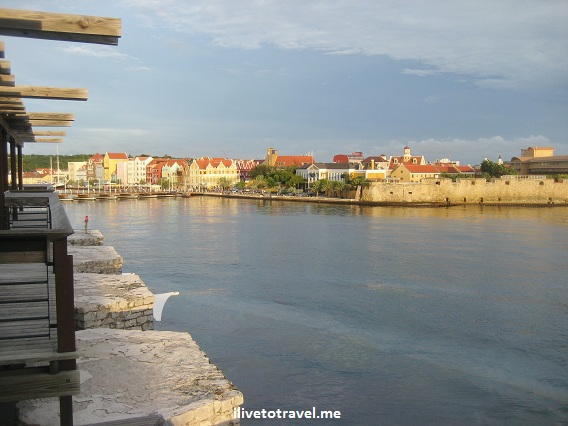 View of Punda at sunset from Otrobanda in Willemstad, Curacao