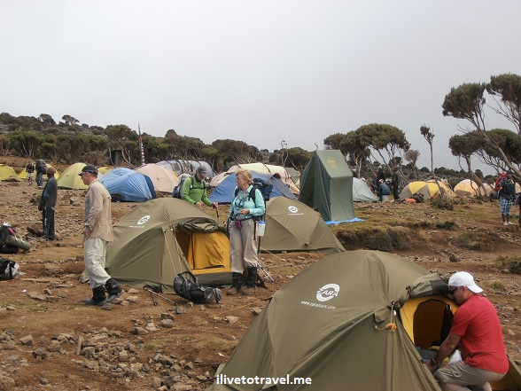 Shira Camp in Mt. Kilimanjaro - Zara Tours tents