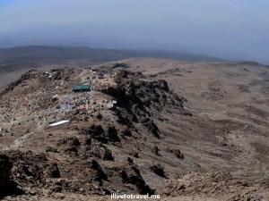 View of Barafu Camp on Mt. Kilimanjaro
