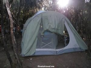 Dining tent in Kilimanjaro