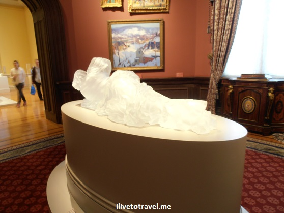 The Smithsonian's Renwick Gallery in Washington, D.C. for American art - glass statue