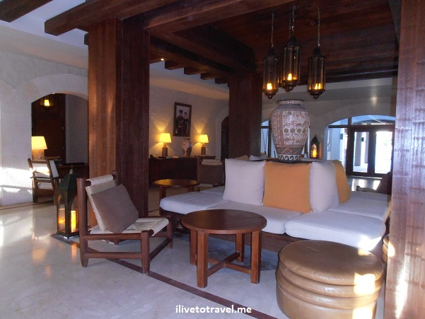 Lobby of the Evason Ma'in Six Senses hotel in Jordan