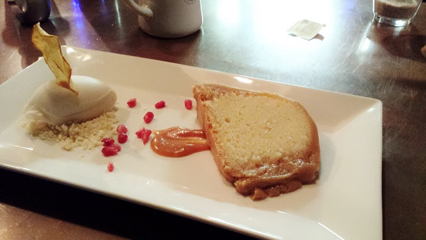 Atlanta, foodie, food, restaurant, caramel pound cake, vanilla gelato,, Buttermilk Kitchen