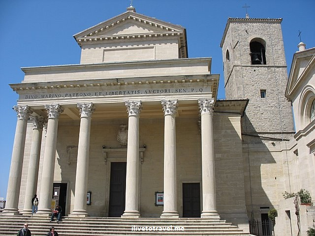Cathedral, basilica, San Marino, photo, travel, St. Marinus, Church of St. Peter, church, architecture