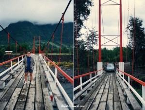 old bridge, Pucón, Chile, Villarica, Trancura