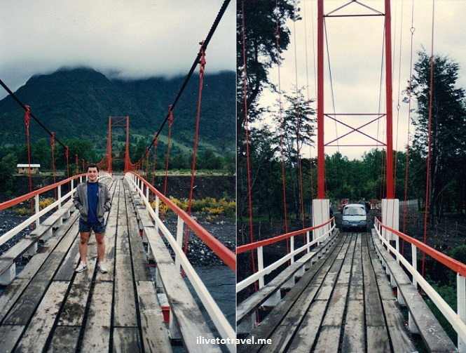 old bridge, Pucón, Chile, Villarica, Trancura