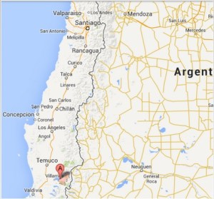 map, Santiago, Pucon