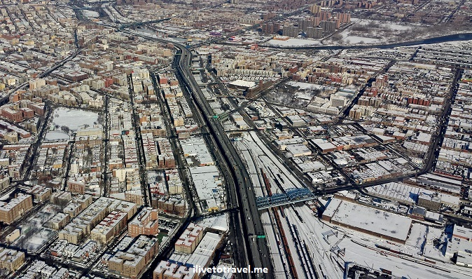 winter, snow, New York City, Manhattan, Hudson River, view from plane, New Jersey, photos, window seat