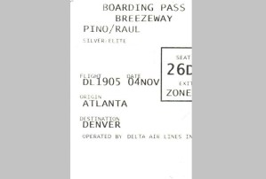 boarding pass, Delta, Denver, travel, air, flights